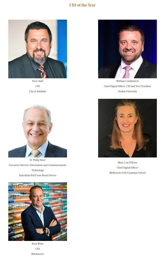 CIO of the year finalists