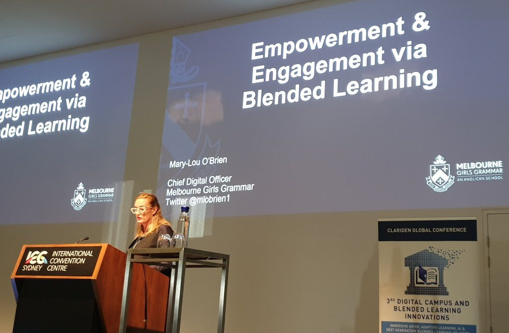 Presenting on Blended Learning at the 3rd Digital Campus and Blended Learning Innovations Conference in 2019